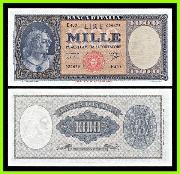ITALY, 1000 lire, 25.9.1961, P88d