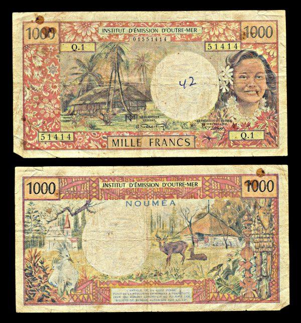 NEW CALEDONIA, 1000 francs, (1971), P64a