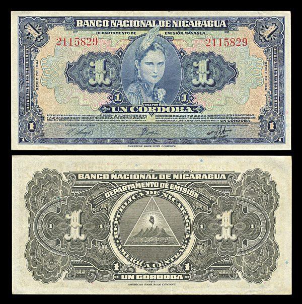 NICARAGUA, 1 cordoba, 1941, P90a