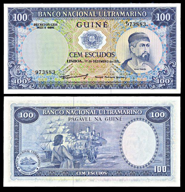 PORTUGUESE GUINEA, 100 escudos, 17.12.1971, P45a