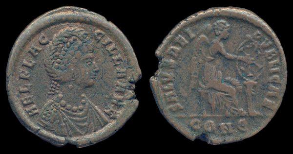 ROMAN EMPIRE, Aelia Flaccilla, 383-386 AD, maiorina, Constantinople mint