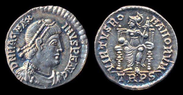 ROMAN EMPIRE, Magnus Maximus, 383-388 AD, siliqua, Treveri
