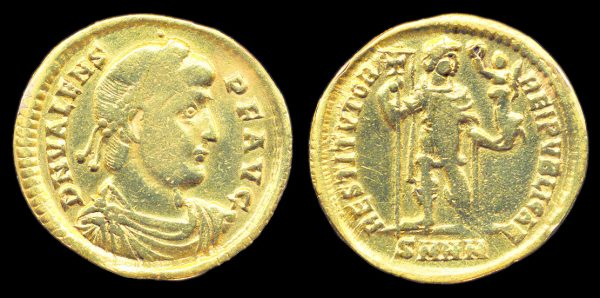 ROMAN EMPIRE, Valens, 364-378 AD, solidus, Heraclea mint