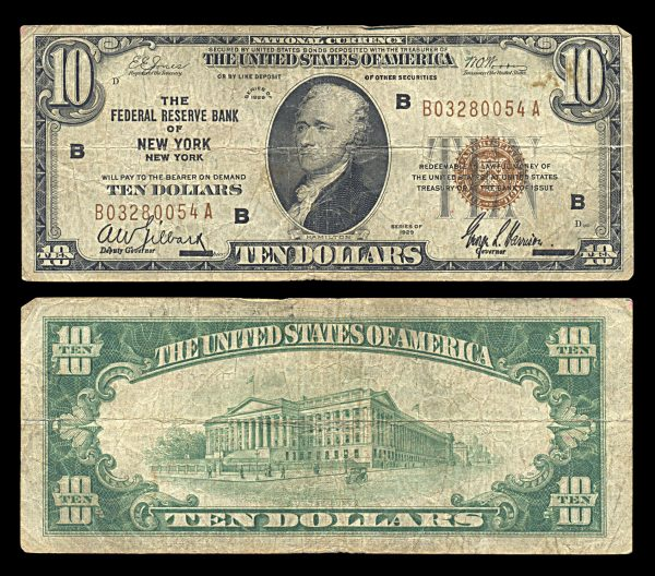 USA, National Currency, 10 dollars, 1929, P396