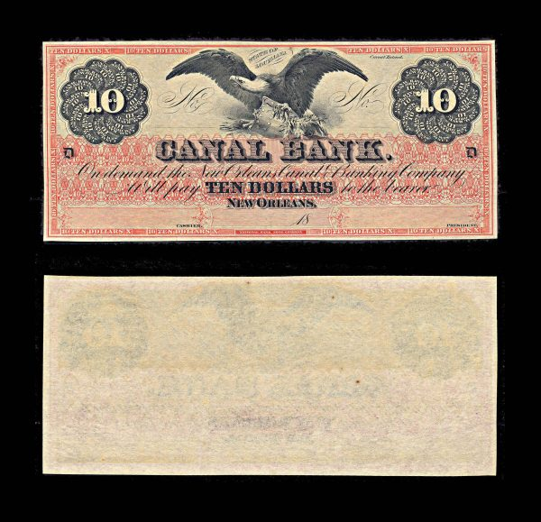 USA, LOUSIANA, New Orleans, Canal Bank, 10 dollars