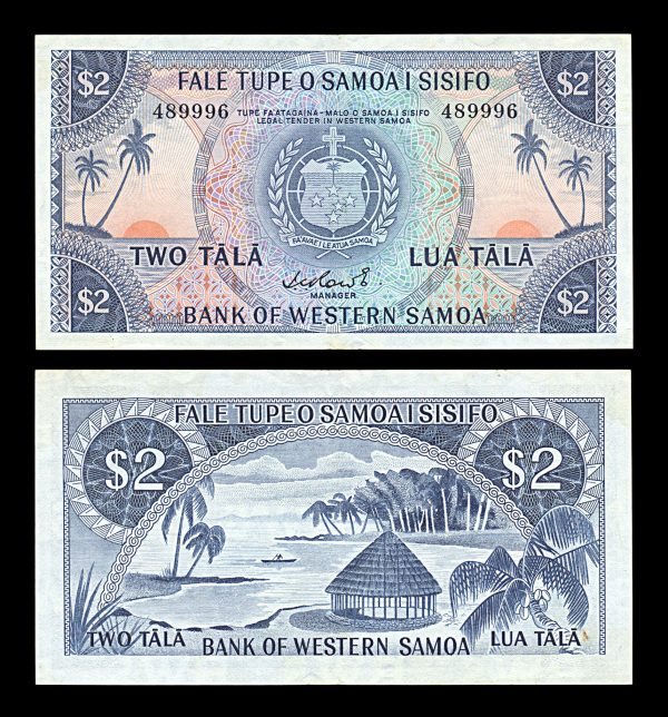 WESTERN SAMOA, 2 tala, (1967), P17a