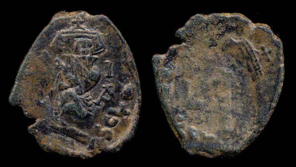 BYZANTINE, Constans II, 641-668 AD, follis, Syracuse mint