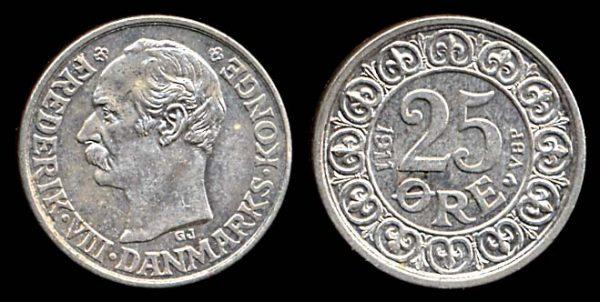 DENMARK, 25 ore, 1911