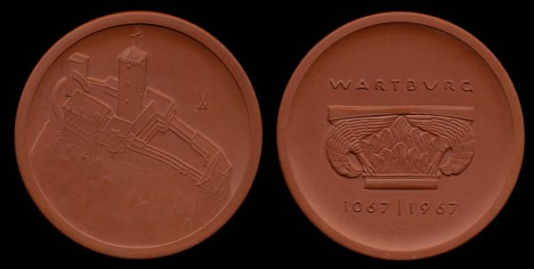 EAST GERMANY, porcelain medal, 1967