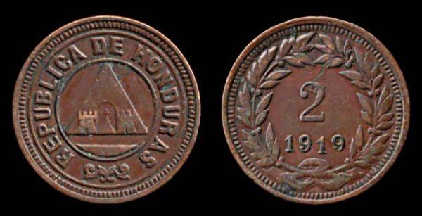 HONDURAS, 2 centavos, 1919