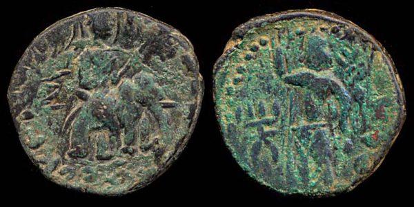 KUSHAN, Huvishka, 158-195 AD, bronze