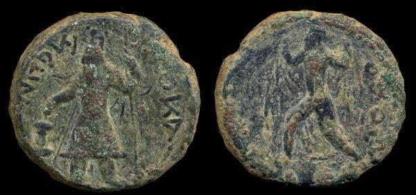 KUSHAN, Kanishka I, c. 130-150 AD, bronze