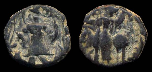 KUSHAN, time of Vasu Deva I - Vashishka, copper, c. 250-260 AD
