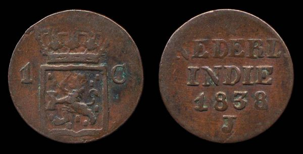 NETHERLANDS INDIES, 1 cent, 1838 J