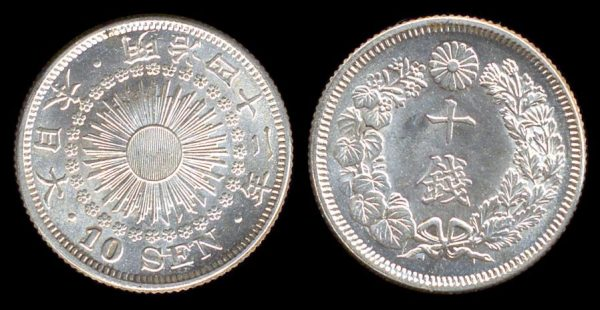 JAPAN, 10 sen, M-42 (1909 AD)
