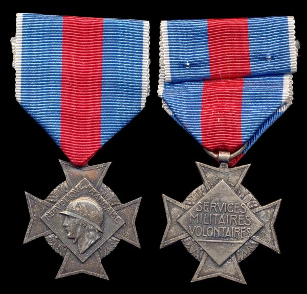 FRANCE, Volunteer Military Service Cross, 2 class, 1934