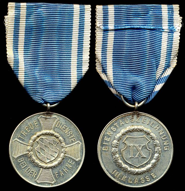 GERMANY, BAVARIA, Service Medal, 3 class
