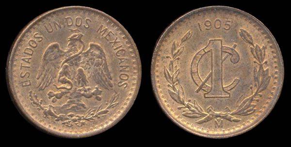 MEXICO, 1 centavo, 1905