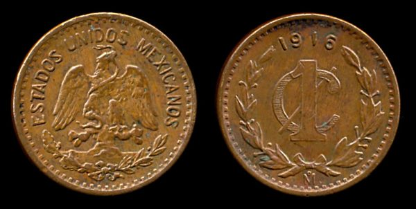 MEXICO, 1 centavo, 1916