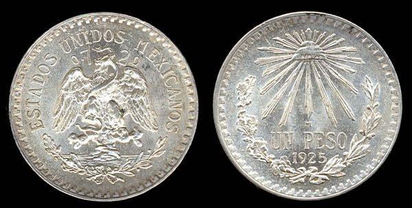 MEXICO, 1 peso, 1925