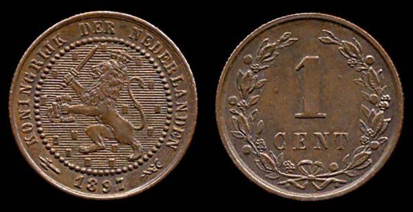 NETHERLAND, 1 cent, 1897