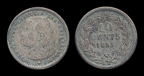 NETHERLAND, 10 cent, 1895
