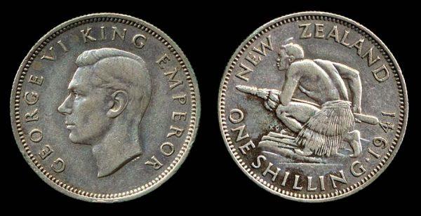 NEW ZEALAND, shilling, 1941