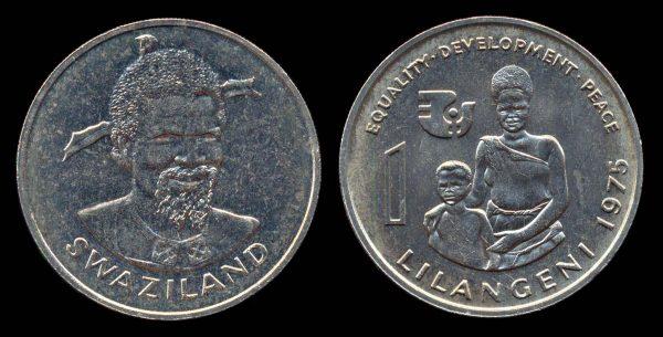 SWAZILAND, 1 lilangeni, 1975