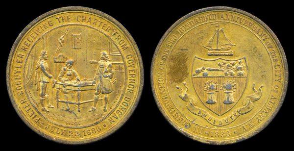USA, medal, Bicentennial of Albany, NY, 1886