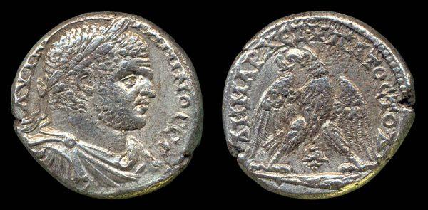 TYRE, Caracalla, 198-217 AD, silver tetradrachm