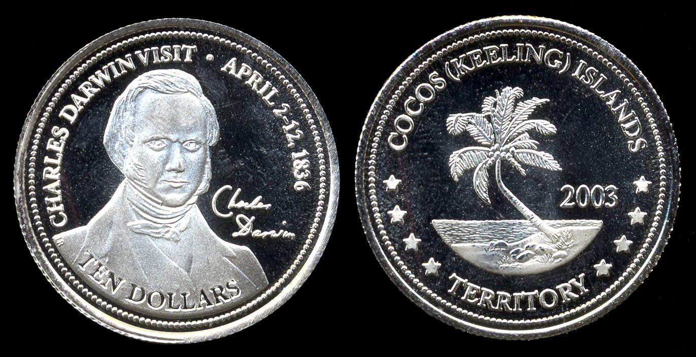 KEELING-COCOS ISLANDS, fantasy silver 10 dollars 2003
