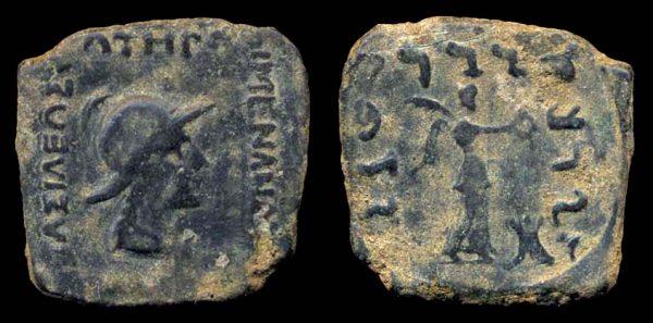INDO-GREEK, Menander, c. 160-145 BC, bronze dichalkon