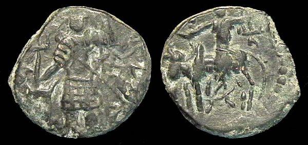 KUSHAN, Vasu Deva I, 195-230 AD, bronze unit