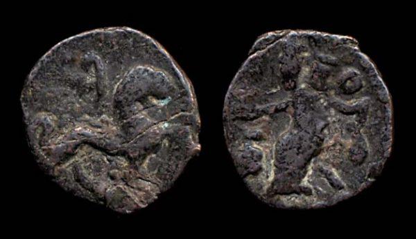 SCYTHIAN, Azes, late 1st century BC, bronze chalkous