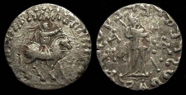 SCYTHIAN, Azes, late 1st century BC, silver tetradrachm