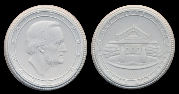 GERMANY, white porcelain Wagner medal