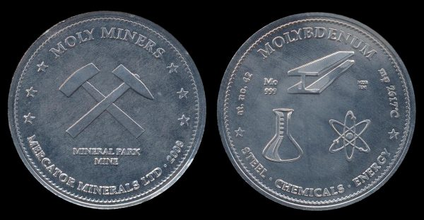 USA, medal of pure molybdenum, 2008
