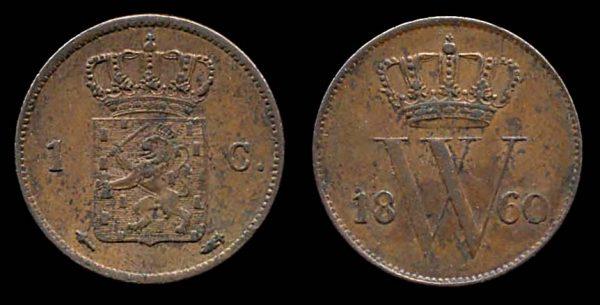 NETHERLAND, 1 cent, 1860