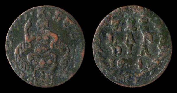 NETHERLAND, duit, 1684, Zeeland mint