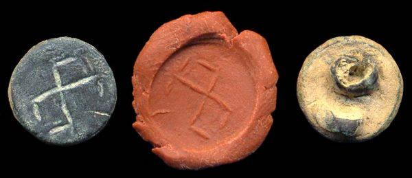 PAKISTAN, HEPHTHALITE, c. 400-700 AD, bronze seal