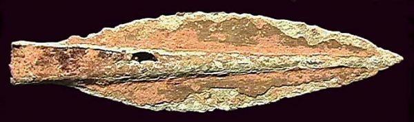 THAILAND, ancient bronze javelin head