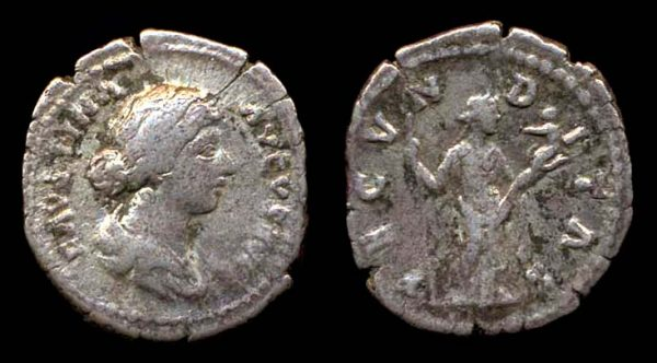 ROMAN EMPIRE, Faustina Jr. under A. Pius, silver denarius