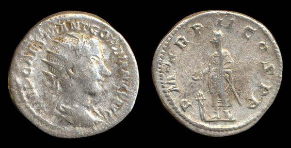 ROMAN EMPIRE, Gordian III, 238-244 AD, silver antoninianius