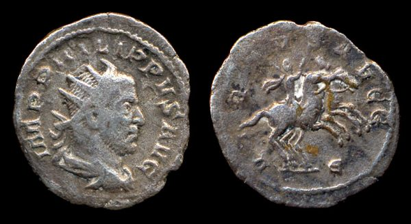 ROMAN EMPIRE, Philip I, 244-249 AD, silver antoninianius