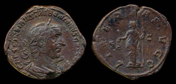 ROMAN EMPIRE, Trebonianus Gallus, 251-253 AD, bronze sestertius