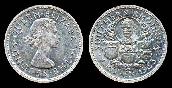 SOUTHERN RHODESIA, crown, 1953