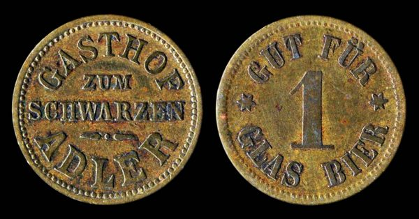 GERMANY, beer token, early 20th century