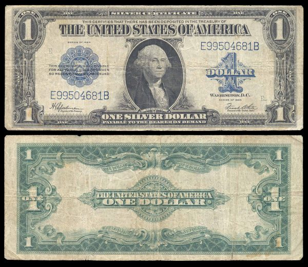 USA, Silver Certificate, 1 dollar, 1923