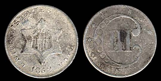 USA, 3 cents, 1852
