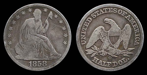 USA, 50 cents, 1858 O